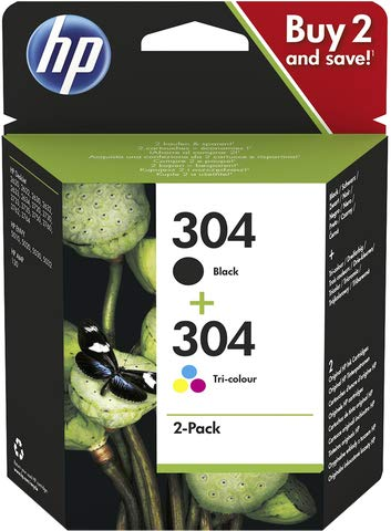 HP 304 Combo Pack - 2 Unidades - Negro, farbstoffbasiert ...