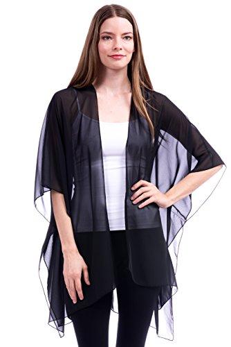 Sheer Chiffon Kimono - 1