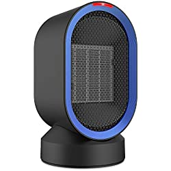 NEXGADGET Ceramic Personal Heater,Mini Space Heater with Auto Oscillation,Smart Touch Control, Fan Heater with Over-Heating&Tip-Over Protection for Office Home Desk,Tabletop-600 Watt
