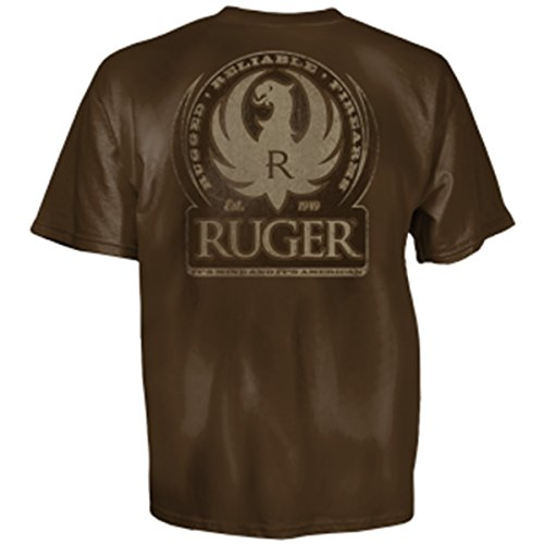 Ruger Old School Adult SS T-shirt by Club Red - Brown and Tan-xl