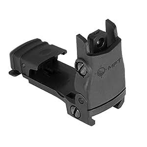 Mission First Tactical Rear Backup Sight Polymer Flip Up Adjustable Wind, Black