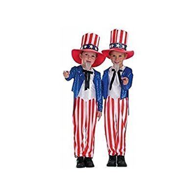 Child's Uncle Sam Costume Size Toddler 4-6T: Toys & Games