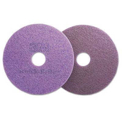 Diamond Floor Pads, 20'' Diameter, Purple, 5/carton