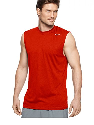 Gym Sleeveless - Nike Mens Legend Dri Fit Sleeveless T Shirt (Large, Gym Red)