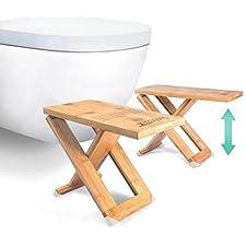RELAXX Toilet Stool - Folding Bamboo Squat Stools - 7
