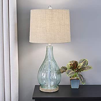 Grandview Gallery 22 Quot Clear Seeded Glass Accent Lamp Ft