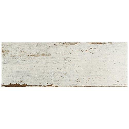 SomerTile FNURT8BL Vintage Porcelain Floor and Wall, 8.25