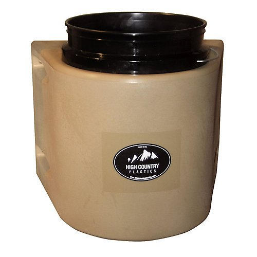 High Country Plastics Insulated 5 Gallon Bucket - Black by High Country Plastics