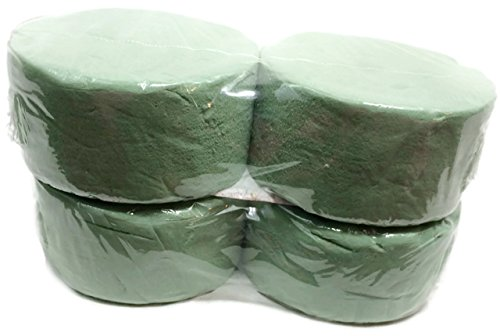 Greenbrier 4 Piece Round Green Floral Foam