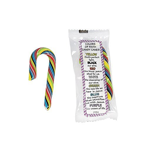 Mini Colors Of Faith Candy Canes - Easter & Easter Candy & C