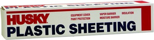 Husky Plastic Sheeting Clear 6ml 10ft x 100ft by Covalence Plastics