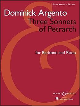 Book Three Sonnets of Petrarch: Baritone