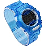 Outdoor Boys Girl Multifunction Waterproof Sports Electronic Watch ???????? ???? C BLUE