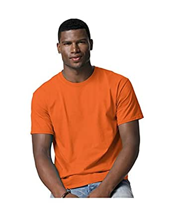 Hanes Tagless 100% Cotton T-Shirt, XL, Safety Orange