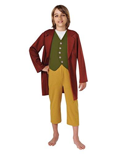 The Hobbit Boys Bilbo Baggins Halloween Costume Jacket with Vest & Pants L10-12]()