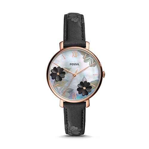 Fossil Women's Analog Quartz Watch with Leather Strap ES4535