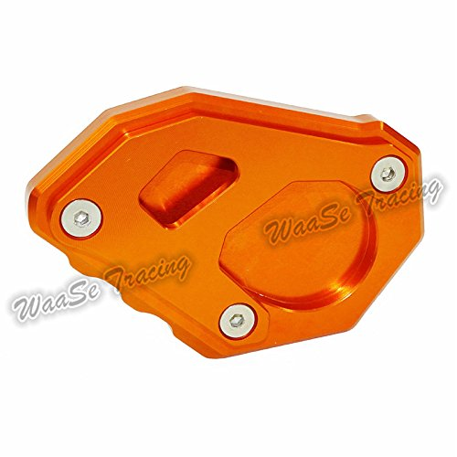 waase Motorcycle Kickstand Foot Side Stand Extension Pad Support Plate For KTM 1050 1090 1190 1290 Adventure (Orange) by waase (Image #4)