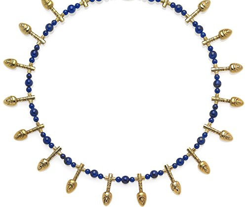SUMMER Sale - Egyptian Nefer Necklace with Genuine Lapis, From Our Museum Collection by ILANET Museum Reproductions