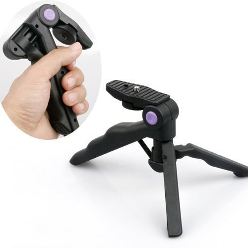 Fotga 2in1 Table Mini Portable Folding Tripod Stand + Hand Grip for DC DSLR SLR Camera (Mini Folding Tripod Stand)