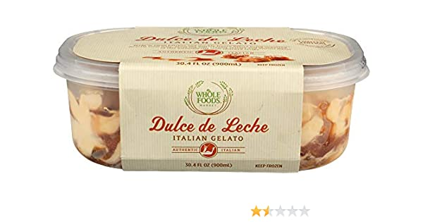 Whole Foods Market Dulce de Leche Italian Gelato, 30.4 fl oz (frozen): Amazon.com: Grocery & Gourmet Food