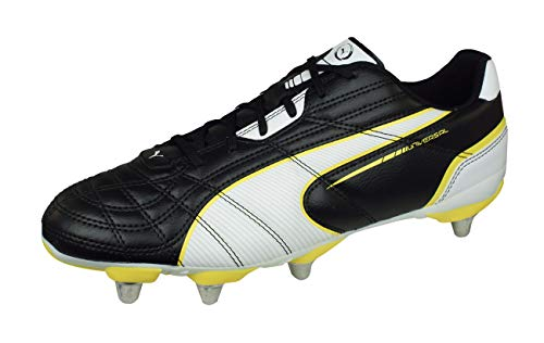 (PUMA Universal Rugby H8 Mens Rugby Boots-Black-12.5)