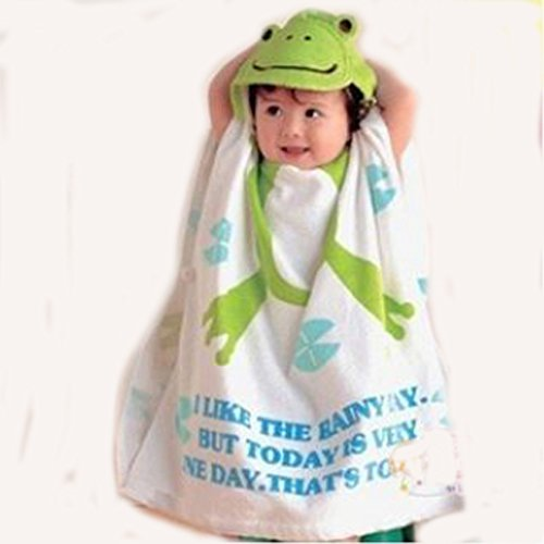 Frog Character Hooded Towel - Frog Hooded Children's Beach Towel +1 Free Beach Ball