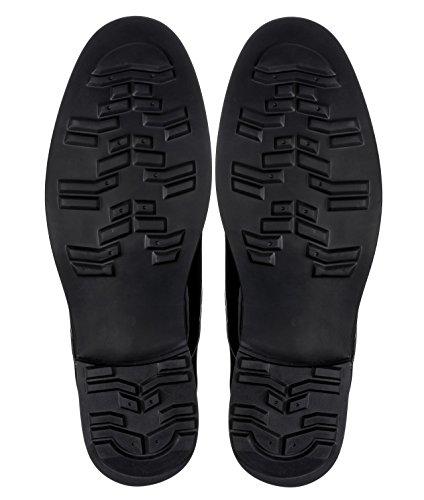 Calden - K595101 - 4 Pulgadas Taller - Zapatillas Elevadoras Que AuHombrestan La Altura: Charol Negro Con Cordones