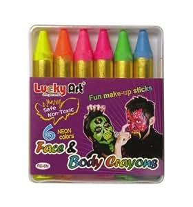 Lucky Art Neon Colours Face And Body Crayons (maquillaje/ pintura de cara)
