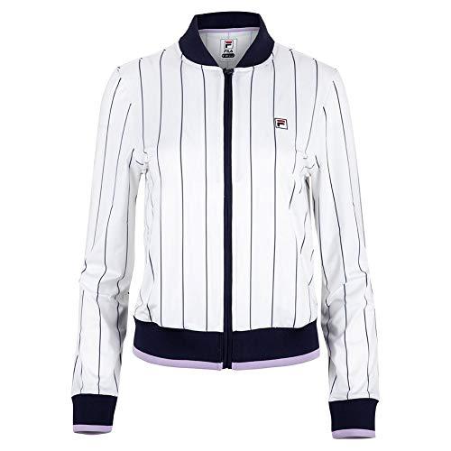 Fila Women's Heritage Jacket, White/Navy, Large