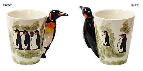 Ceramic 3D Baby Penguin Coffee Mug with Tentacle Handle Color (Plain Handle Baby Cup)