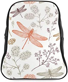 Cartoon Cute Wings Butterfly Dragonfly Daypacks For Women School Bags Ladies Bags For College Print Zipper Students Unisex Adult Teens Gift