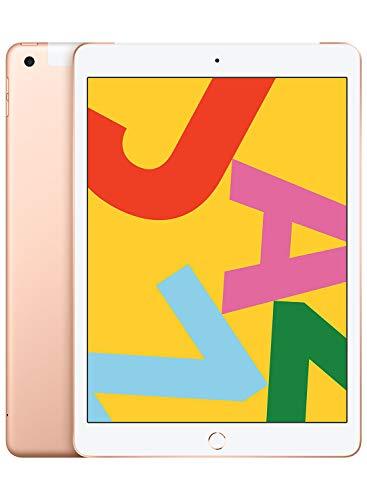 New Apple iPad (10.2-Inch, Wi-Fi + Cellular, 128GB) - Gold (Latest Model)