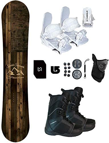 Symbolic Freedom Snowboard Bindings Boots Package