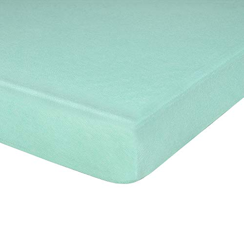 - IDEAhome Jersey Knit Fitted Cot Sheet, Soft Material, Suitable for Twin Beds, Toddler Mattresses, Camping, RVs, Daycare Cots, Solid Colors, Great for Boys & Girls, 75