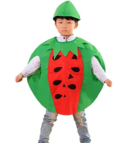 ANDES Child Party Clothing Watermelon Costume Suit for Christmas Holidy (Watermelon) -