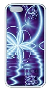 Abstract Art Light Effect TPU Silicone Rubber iPhone 5 and iPhone 6(4.7) Case Cover - White