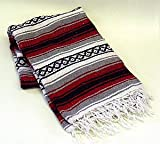 Mexican Blanket Made in Mexico for Throws, Yoga or Meditaion