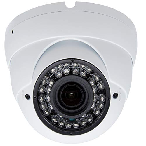 - Inwerang 2MP HD 1080p CCTV Dome Security Camera,TVI/AHD/CVI/960H CVBS(4in1) Outdoor/Indoor 2.8mm-12mm Varifocal Lens 100ft Infrared Distance, IP66 Water-Proof Day & Night Vision CCTV Security Camera