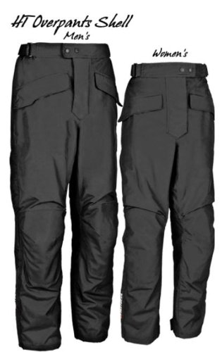 FirstGear HT Overpants Shell Men's Textile Sports Bike Racing Motorcycle Pants - Black / Tall / Size 38 by Firstgear (Image #1)