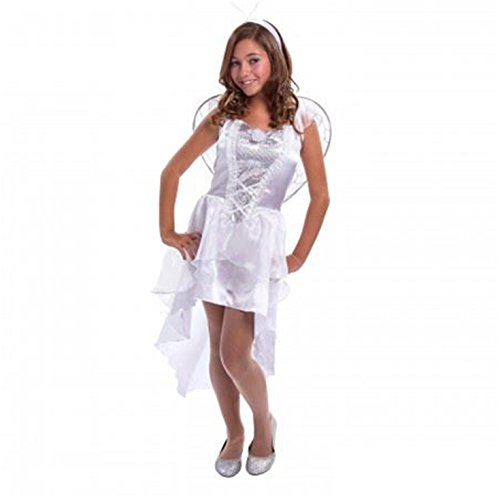 Girls Teen Angel Heavenly White Fairytale Fancy Dress Costume (Angel Costumes For Teens)