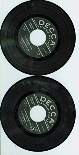 Extended Play Double Record (EP) ft 9 songs: Louis Armstrong Introduction/ | Cornet Chop-Suey / Skit-Dat-De-Dat / Potato Head Blues + 5 more - Lawson-Haggart Jazz Band (Decca Records 1954) Excellent to Mint (6 out of 10) - Vintage 45 RPM Vinyl Record