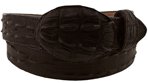 Cowboy Professional - Men's Brown Crocodile Tail Leather Western Belt Round Buckle 44