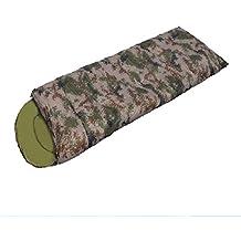 LJ&L Outdoor Envelope Adult Sleeping Bag, Hiking Hiking Camouflage Spring Summer Sleeping Bag, Ultra Light Compact Bag & Compression Bag