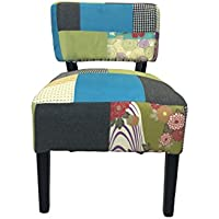 Lux Home Pacific Coastal Patchwork Accent Chair (Set of 1)