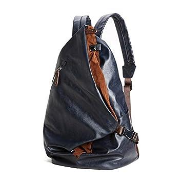 liningfashion marca de hombre macho de piel sintética mochila mochilas escuela bolsas mochila para portátil hombre negro impermeable mochila de viaje, ...