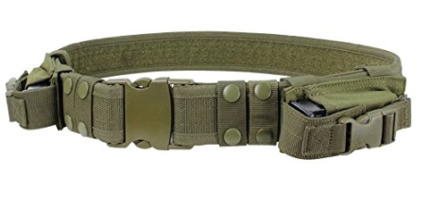 Police Green (Rodut (TM)Tactical Belt Military Duty Belt Includes 2 Pistol Mag Pouch Police)