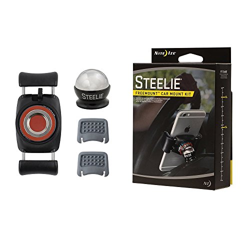 Nite Ize Original Steelie Freemount Dash Kit - Adjustable Magnetic Bracket + Car Dash Mount for Smartphones