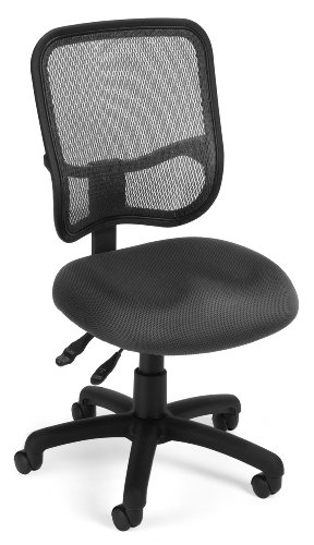 OFM Comfort Series Ergonomic Mesh Swivel Armless Task Chair,