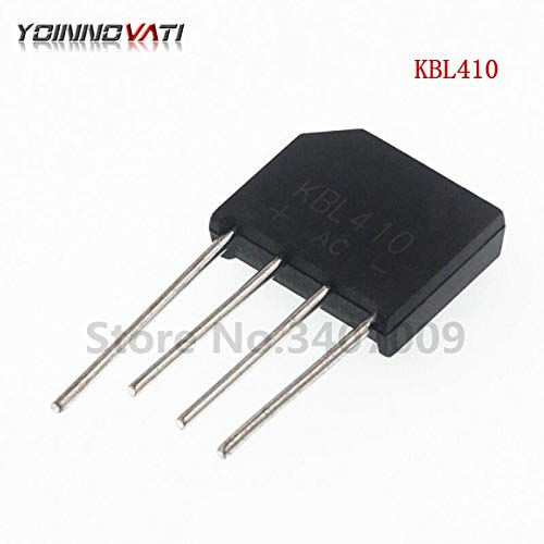 Gimax New 5PCS/Lot KBL410 KBL-410 4A 1000V ZIP Single Phases Diode Rectifier Bridge Wholesale Electronic ()