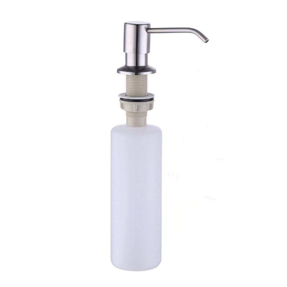 Kitchen Sink Soap Dispenser, Stainless Steel Soap Dispenser Brushed Nickel by LITVZ (Image #1)